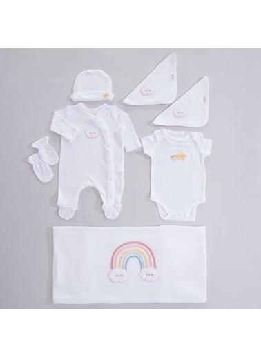Chakra Rainbow Yeni Doğan Hastane Çıkışı Beyaz Beyaz